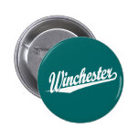 Winchester white pinback buttons