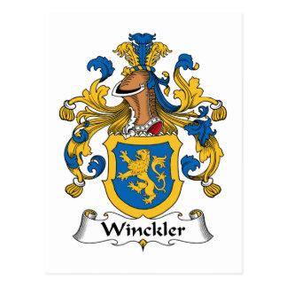 Winckler Family Crest Postcard
