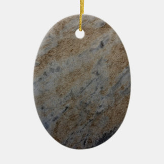 Wind aged sandstone with natural element patterns ceramic ornament