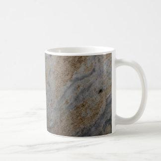 Wind aged sandstone with natural element patterns mug