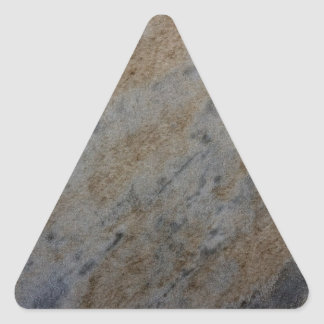 Wind aged sandstone with natural element patterns triangle sticker