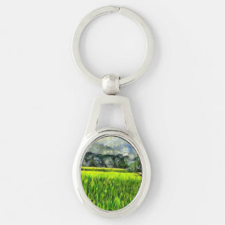Wind and fields keychain