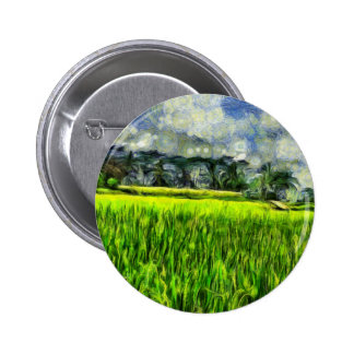 Wind and fields pinback button