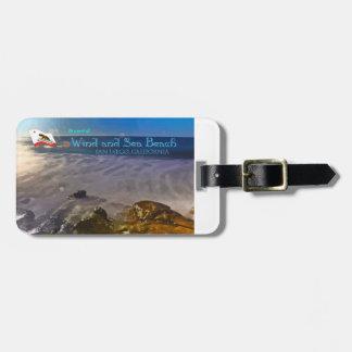 Wind and Sea Beach - San Diego, CA Luggage Tag
