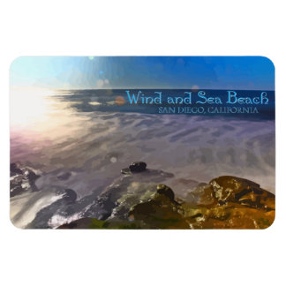 Wind and Sea Beach ~ San Diego, California Rectangular Photo Magnet