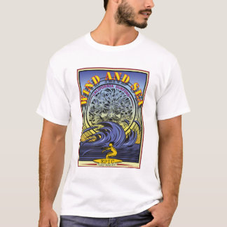 WIND AND SEA LA JOLLA CALIFORNIA SURFING T-Shirt
