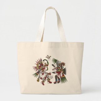 Wind And Smoking Mirror Large Tote Bag