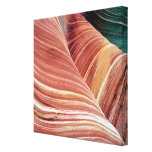 Wind and water eroded Navajo  sandstone in Canvas Print