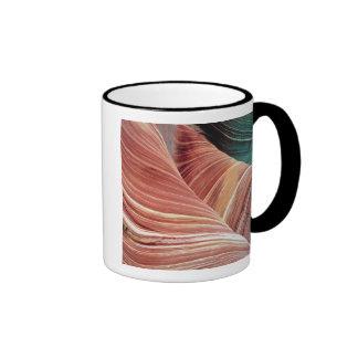 Wind and water eroded Navajo  sandstone in Ringer Coffee Mug