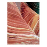 Wind and water eroded Navajo  sandstone in Postcard