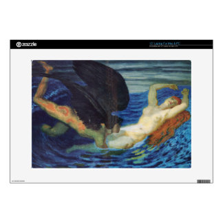 "Wind and wave by Franz Stuck Decal For 15"" Laptop"