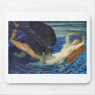Wind and wave by Franz Stuck Mouse Pad