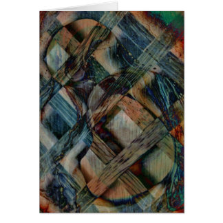 Wind and Wood Abstract Blank Greeting Card