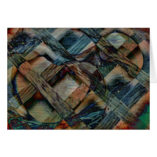 Wind and Wood Funky Abstract Blank Greeting Card