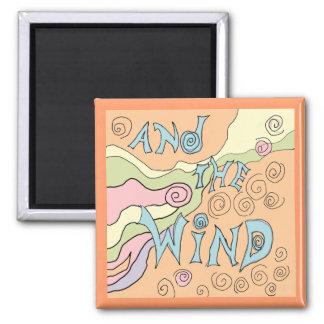wind art 2 inch square magnet