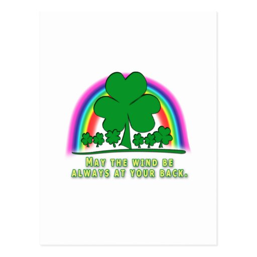 WIND AT YOUR BACK - IRISH BLESSING POSTCARD