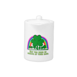 WIND AT YOUR BACK - IRISH BLESSING TEAPOT