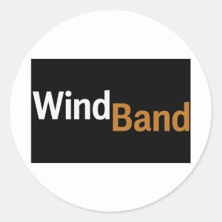 Wind Band Classic Round Sticker