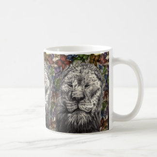 Wind Beneath My Wings Lion Butterflies Animal Art Coffee Mug