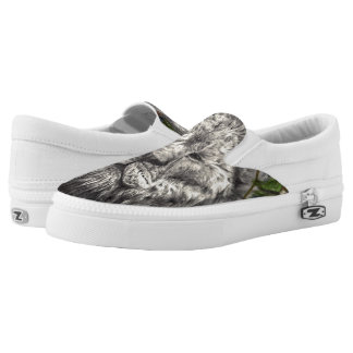 Wind Beneath My Wings Lion Butterfly Original Art Printed Shoes