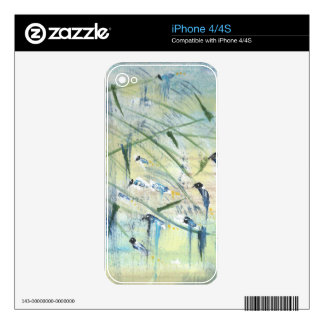 Wind birds skin for the iPhone 4S