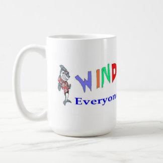 Wind Blower Classic White Coffee Mug