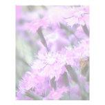 Wind Blown Dianthus Custom Letterhead