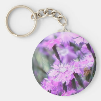 Wind Blown Dianthus Keychain