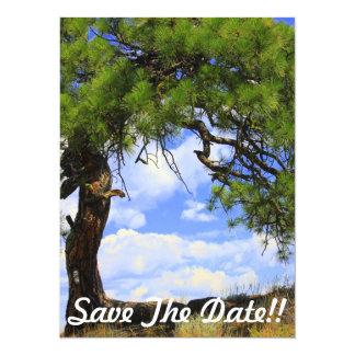 "Wind Blown - Party Invitation - Save the Date 5.5"" X 7.5"" Invitation Card"