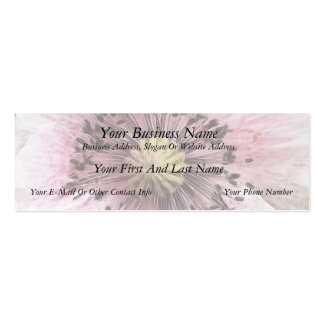 Wind Blown Poppy Business Card Template