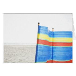 Wind Break on Beach Card