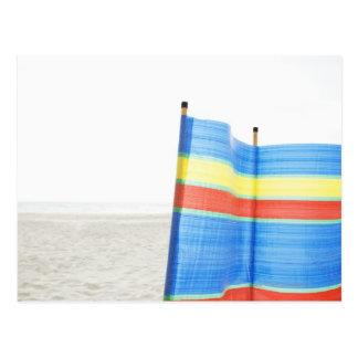 Wind Break on Beach Postcard