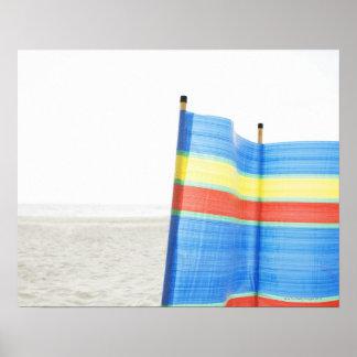 Wind Break on Beach Poster