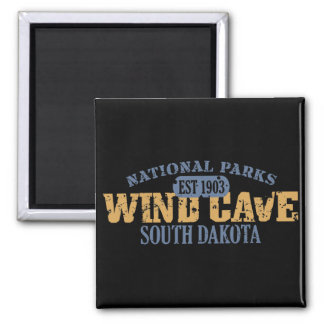 Wind Cave National Park 2 Inch Square Magnet