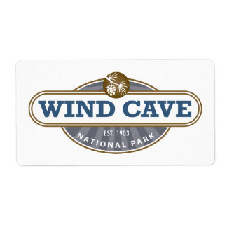 Wind Cave National Park Custom Shipping Label