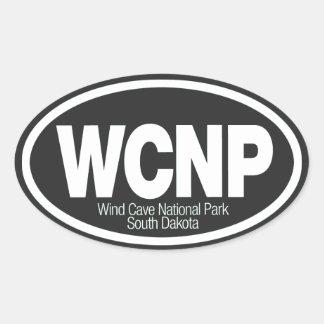 Wind Cave National Park Oval Sticker