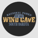 Wind Cave National Park Round Stickers