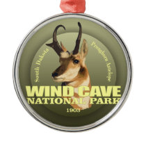 Wind Cave NP (Pronghorn) WT Metal Ornament