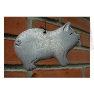 Wind Chime Pig Card