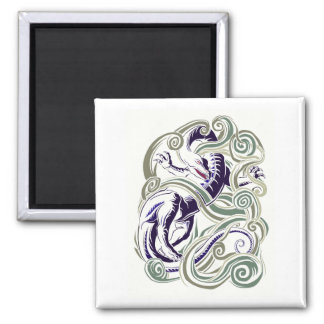 Wind dragon 2 inch square magnet