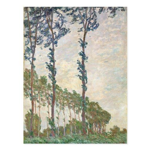 Wind Effect, Sequence of Poplars - Claude Monet Postcards