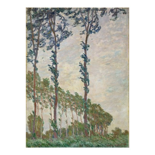 Wind Effect, Sequence of Poplars - Claude Monet Posters