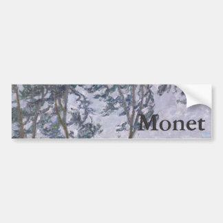 Wind Effect Series of Poplars by Claude Monet Bumper Sticker