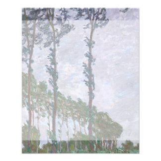 Wind Effect Series of Poplars by Claude Monet Flyer