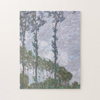 Wind Effect Series of Poplars by Claude Monet Jigsaw Puzzle