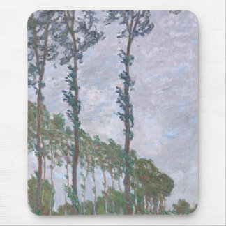 Wind Effect Series of Poplars by Claude Monet Mouse Pad