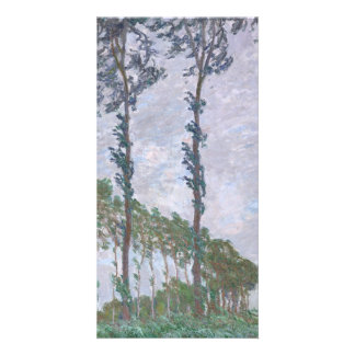 Wind Effect Series of Poplars by Claude Monet Photo Greeting Card
