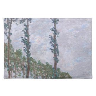 Wind Effect Series of Poplars by Claude Monet Place Mat