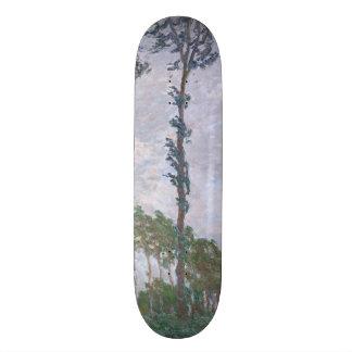 Wind Effect Series of Poplars by Claude Monet Skateboard Deck