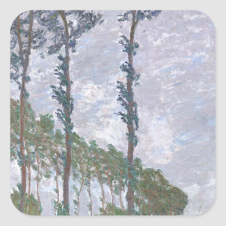 Wind Effect Series of Poplars by Claude Monet Stickers